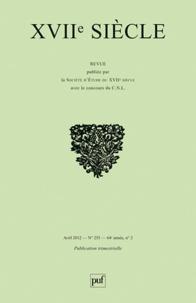 Delphine Reguig - XVIIe siècle N°255, Avril 2012 : Malebranche et la littérature.