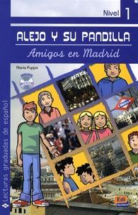 Flavia Puppo - Lejo y su pandilla - Amigos en madrid. libro con cd nivel 1. 1 CD audio