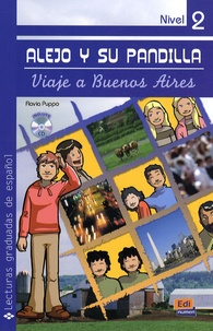 Flavia Puppo - Lejo y su pandilla - Viaje a Buenos Aires, libro con cd nivel 2.