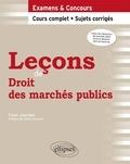 Fleur Jourdan - Leçons de droit des marchés publics.