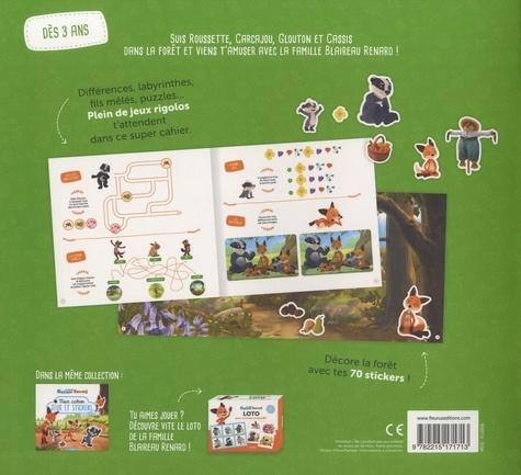 Mon cahier jeux et stickers. La forêt