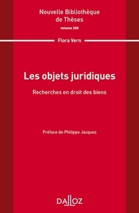 Flora Vern - Les objets juridiques - Recherche en droit des biens.