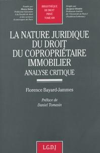 La nature juridique du droit du copropriétaire immobilier - Analyse critique.pdf