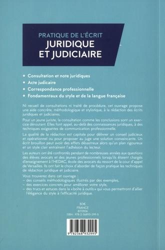 Pratique de l'écrit juridique et judiciaire 3e édition