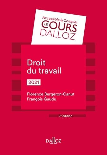 Florence Bergeron-Canut - Droit du travail 2021 - 7e ed..