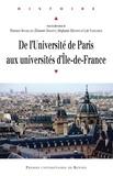 Florence Bourillon et Eléonore Marantz - De l'Université de Paris aux universités d'Ile-de-France.