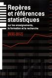 Florence Defresne et Michel Quéré - Repères et références statistiques sur les enseignements, la formation et la recherche.