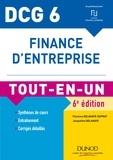 Florence Delahaye-Duprat et Jacqueline Delahaye - Finance d'entreprise DCG 6 - Tout-en-un.