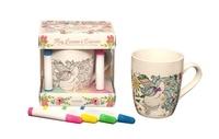 Florence Dellerie et Elena Lopez - Mug Licorne à colorier Art-thérapie - Coffret avec 1 mug et 4 feutres.