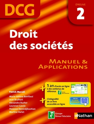 EXPERT COMPTA  Droit des sociétés - DCG 2 - Manuel et applications. Format : ePub 2