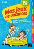 Florence Doutremépuich et Françoise Perraud - Mes jeux de vacances PS vers la MS, 3-4 ans - Avec un crayon gomme.