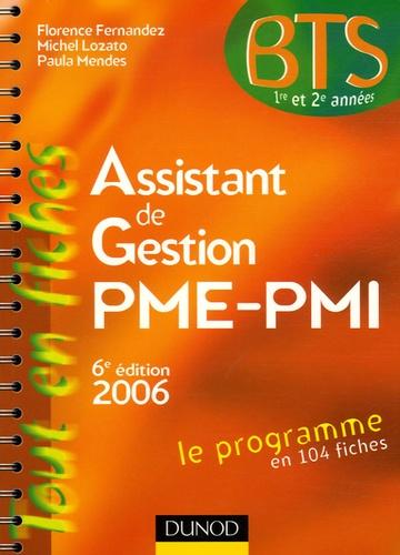 Florence Fernandez et Paula Mendes - Assistant de gestion PME-PMI - Edition 2006.