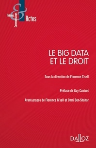 Florence G'Sell - Le Big Data et le droit.