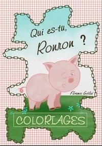 Florence Gobled - Qui es-tu, Ronron ? - Livre de coloriages.