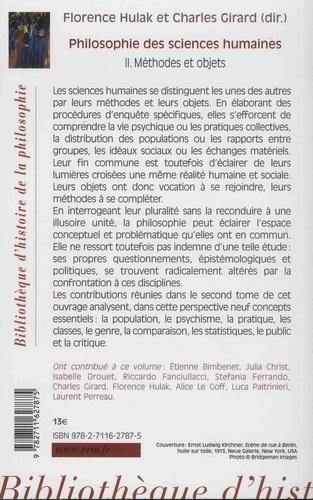 Philosophie des sciences humaines. Volume 2, Méthodes et objets
