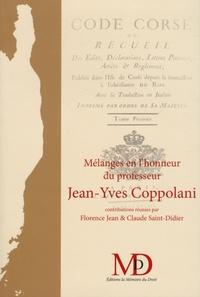 Florence Jean et Claude Saint-Didier - Mélanges en l'honneur du professeur Jean-Yves Coppolani.