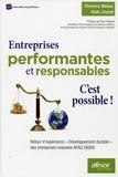 """Florence Méaux et Alain Jounot - Entreprises performantes et responsables : c'est possible ! - Retour d'expérience """"Développement durable"""" des entreprises évaluées AFAQ 26000."""