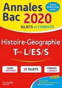 Florence Nielly et Catherine Guillerit - Histoire-Géographie Tle L, ES, S - Sujets et corrigés.