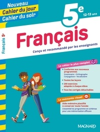 Florence Randanne et Stéphane Devin - Cahier du jour/Cahier du soir Français 5e + mémento.
