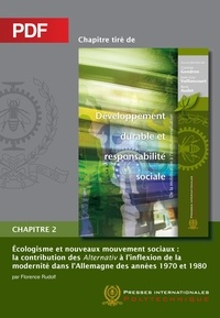 Florence Rudolf et René Audet - Écologisme et nouveaux mouvement sociaux (Chapitre PDF) - La contribution des Alternativ à l'inflexion de la modernité dans l'Allemagne des années 1970 et 1980.