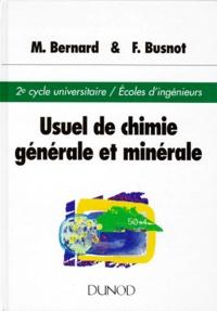 Histoiresdenlire.be USUEL DE CHIMIE GENERALE ET MINERALE. 3ème édition revue et actualisée Image