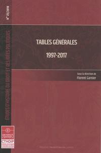 Florent Garnier - Tables générales 1997-2017.