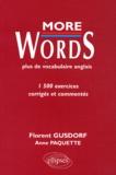 Florent Gusdorf et Anne Paquette - More words - Exercices corrigés et commentés.