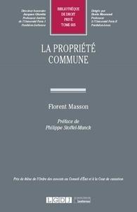Florent Masson - La propriété commune.
