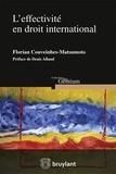Florian Couveinhes-Matsumoto - L'effectivité en droit international.