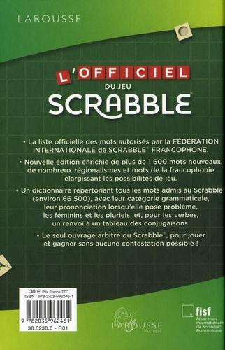L'officiel du jeu Scrabble. La liste officielle des mots autorisés