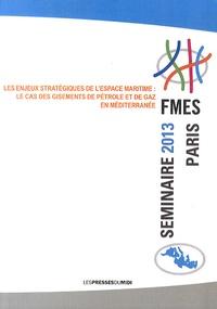 FMES - Les enjeux stratégiques de l'espace maritime : le cas des gisements de pétrole et de gaz en Méditerranée - Séminaire octobre 2013 Paris Sénat.