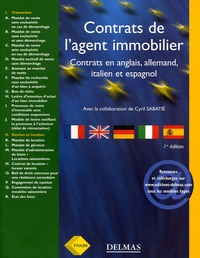 Fnaim - Contrats de l'agent immobilier 2005 - Contrats en anglais, allemand, italien et espagnol.