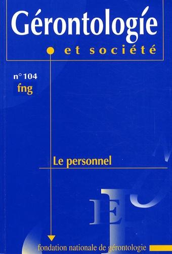 Olivier Saint Jean - Gérontologie et société N° 104/2003 : Le personnel.