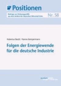 Folgen der Energiewende für die deutsche Industrie.