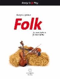 Folk für zwei Violinen - Partitur mit Stimme.