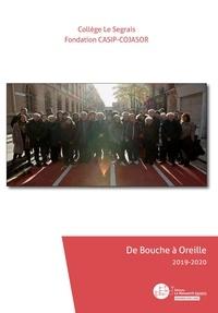 Fondation Casip-Cojasor - De Bouche à Oreille 2020 - 2019-2020.