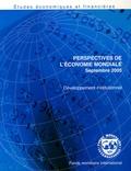 Fonds monétaire international - Perspectives de l'économie mondiale, Septembre 2005 - Développement institutionnel.