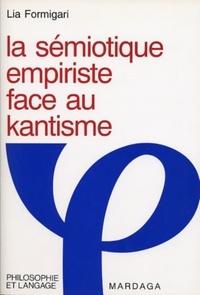 Formigari - La sémiotique empiriste face au kantisme.