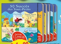 Formulette production - 50 succès des tout-petits - Coffret 5 livres CD. 5 CD audio