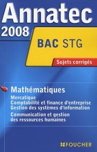 Foucher - Mathématiques Bac STG - Sujets corrigés.