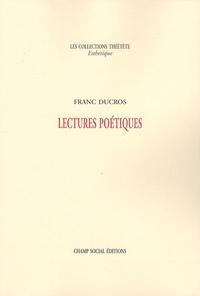 Franc Ducros - Lectures poétiques.