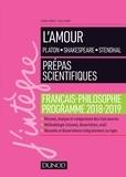 France Farago et Stella Pinot - L'amour - Epreuve de français-philosophie Prépas scientifiques 2018-2019.