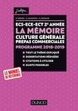 France Farago et Etienne Akamatsu - La mémoire - Thème de culture générale Prépas commerciales.