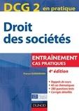 France Guiramand - DCG 2 - Droit des sociétés - 4e éd. - Entraînements, cas pratiques.