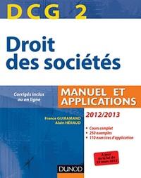 France Guiramand et Alain Héraud - Droit des sociétés DCG 2 2012-2013 - Manuel et applications.