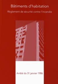 France-Sélection - Règlement de sécurité contre l'incendie des bâtiments d'habitation du 31 janvier 1986.