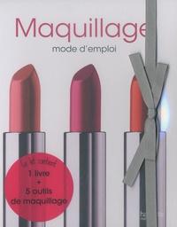 France Valentini - Maquillage mode d'emploi - Kit avec 1 livre et 5 outils de maquillage.