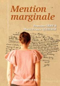 Francine Géry et Marie-France Quiblier - Mention marginale.