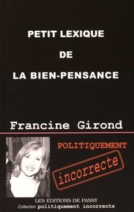 Francine Girond - Petit lexique de la bien-pensance.