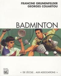 Francine Grunenfelder et Georges Couartou - Badminton.